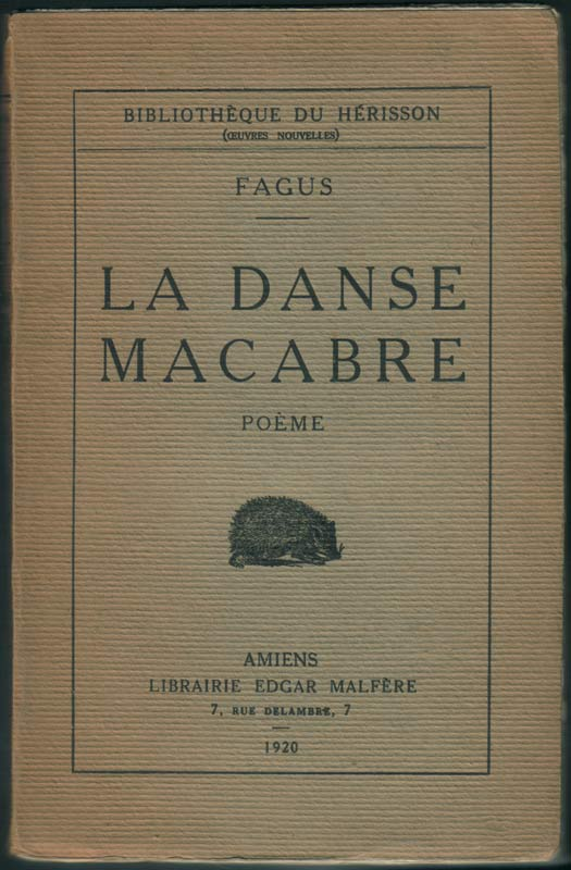 1920 La Danse Macabre Poème Fagus
