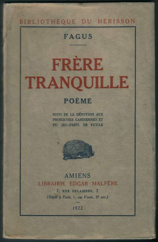 1922 Frère Tranquille Poème Fagus
