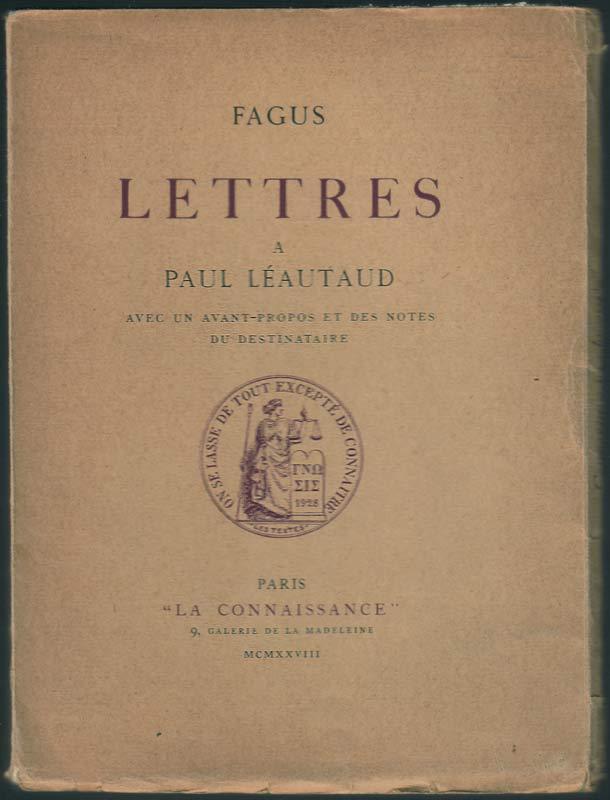 1928 Lettres à Paul Léautaud Fagus